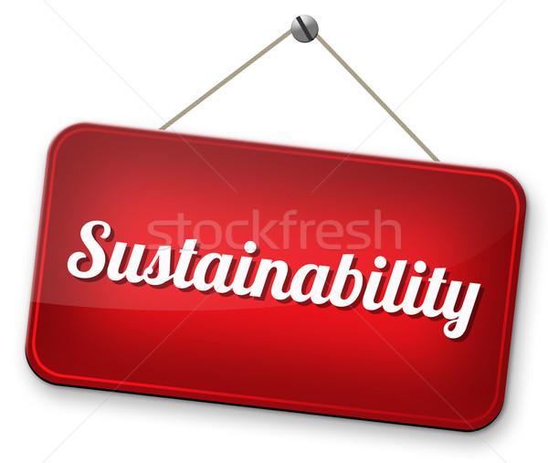 Sürdürülebilirlik sürdürülebilir yenilenebilir enerji ekonomi tarım enerji Stok fotoğraf © kikkerdirk