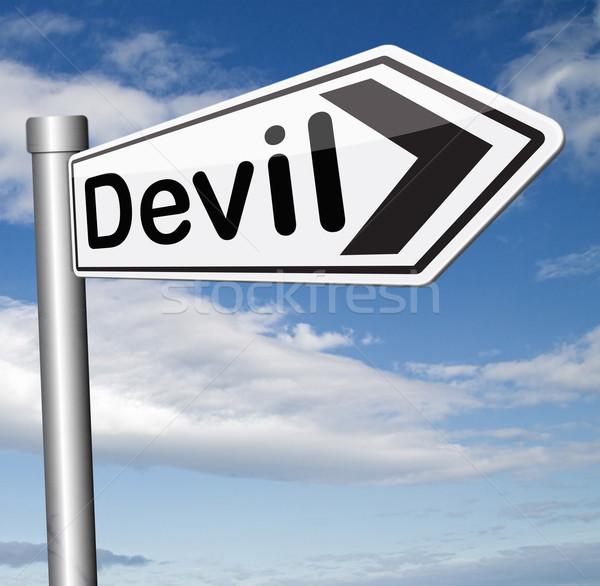 дьявол искушение зла сатана ад Сток-фото © kikkerdirk
