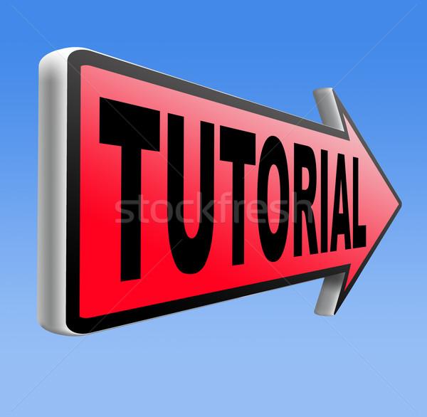 Tutorial aprender on-line vídeo lição classe Foto stock © kikkerdirk