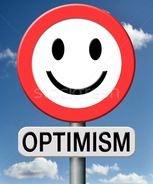 Optimiste optimisme pense positif jouir de vie Photo stock © kikkerdirk