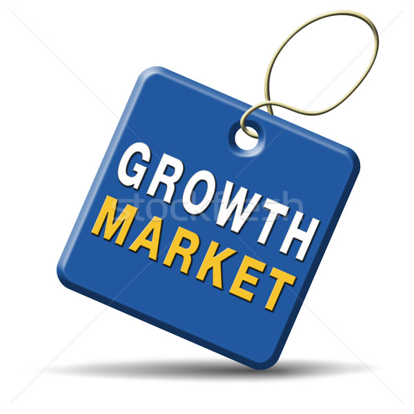 growth market icon Stock photo © kikkerdirk