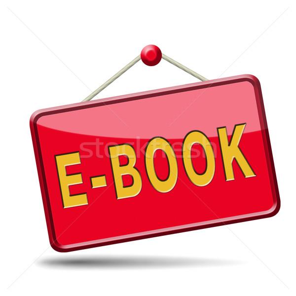 Ebook botão baixar ler on-line eletrônico Foto stock © kikkerdirk