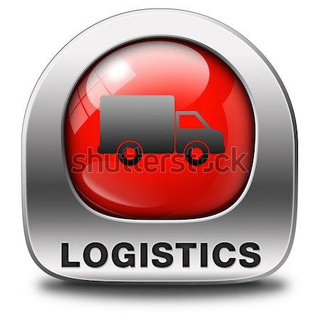 Esportazione icona commercio internazionale logistica transporti mondo Foto d'archivio © kikkerdirk