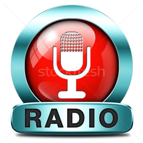 radio icon Stock photo © kikkerdirk