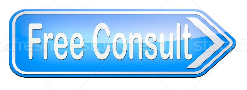 свободный консультации дорожный знак помочь информации столе Сток-фото © kikkerdirk