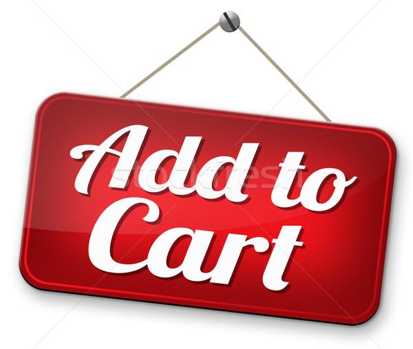 Winkelwagen start winkelen nu online webshop Stockfoto © kikkerdirk