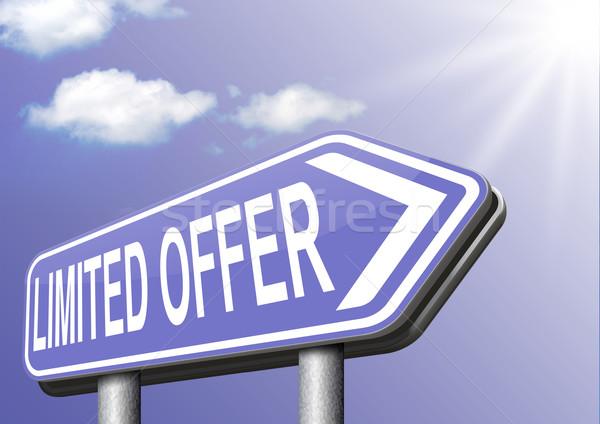 Ajánlat stock webshop háló bolt felirat Stock fotó © kikkerdirk