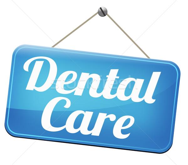 Zahnpflege Zentrum mündliche Hygiene Chirurgie gesunden Stock foto © kikkerdirk