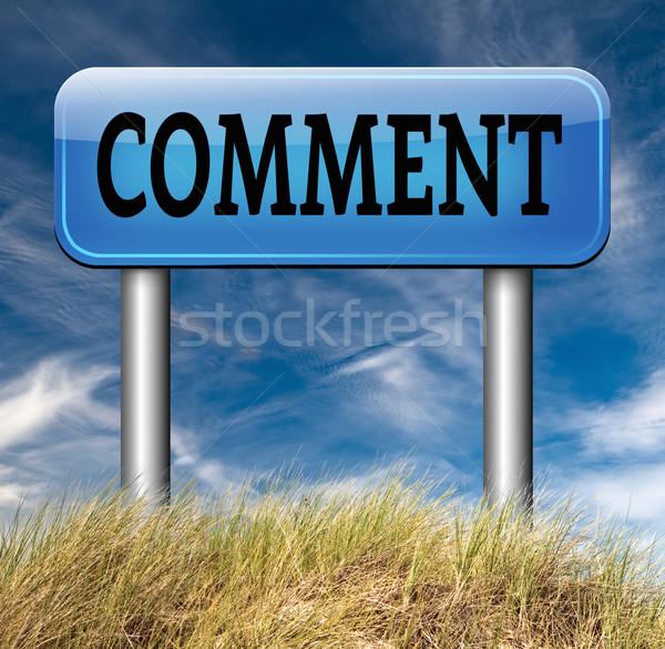 Commentaar schrijven klant gebruiker terugkoppeling Stockfoto © kikkerdirk