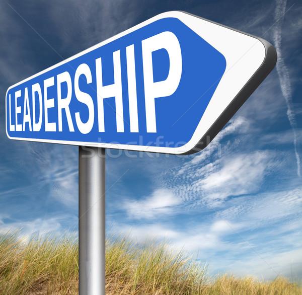 リーダーシップ チームリーダー 自然 ビジネス リーダー ストックフォト © kikkerdirk