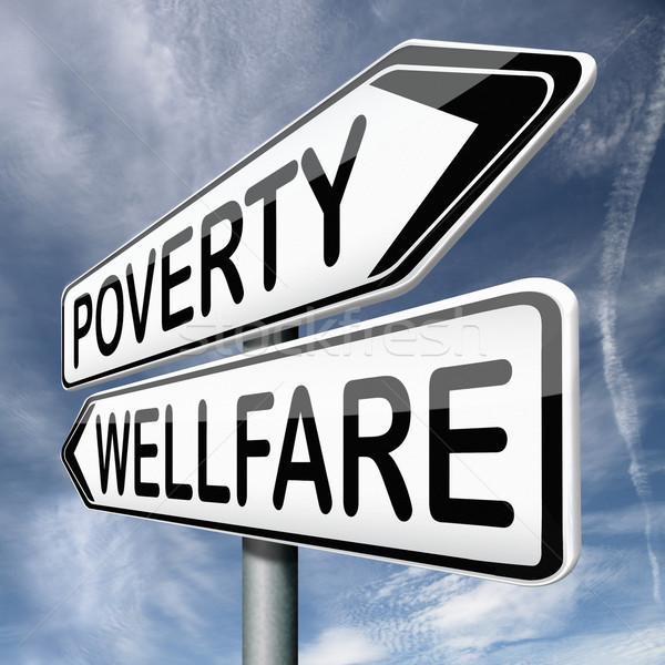 Yoksulluk yardım vermek bağış evsiz nakit Stok fotoğraf © kikkerdirk