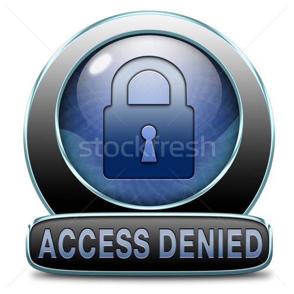 Toegang geen personeel wachtwoord beperkt Stockfoto © kikkerdirk