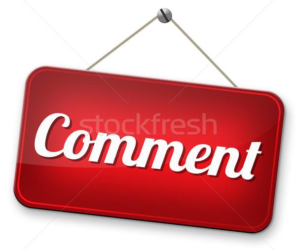 Comentar escrever cliente usuário produto comentários Foto stock © kikkerdirk