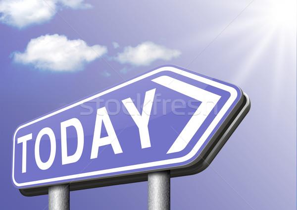 today agenda Stock photo © kikkerdirk