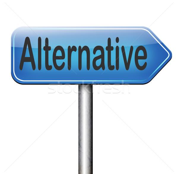 Alternatif plan seçim seçmek farklı seçenek Stok fotoğraf © kikkerdirk