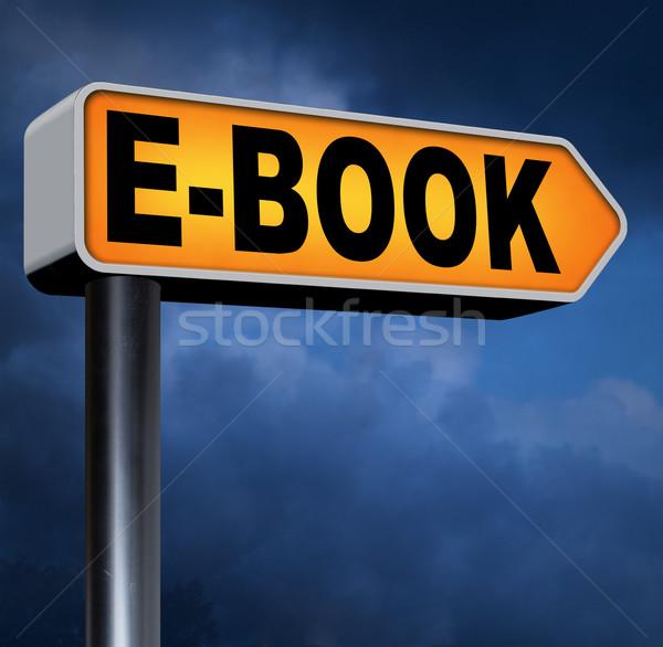 Ebook eletrônico livro baixar on-line Foto stock © kikkerdirk