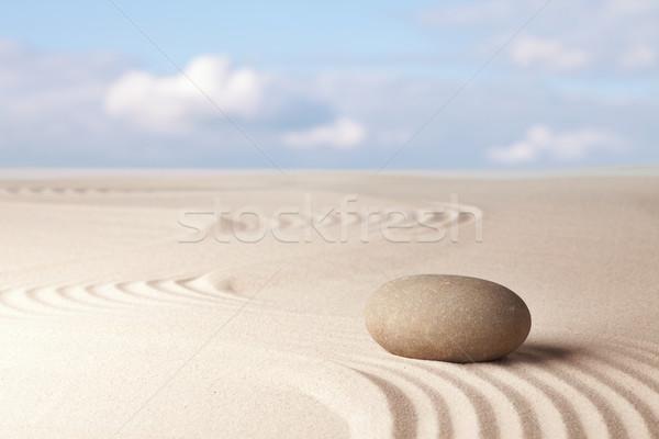 Meditáció zen kert harmónia pihenés egyensúly Stock fotó © kikkerdirk