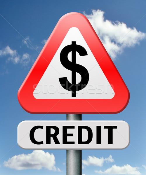 Stok fotoğraf: Kredi · banka · borç · satın · almak · borç