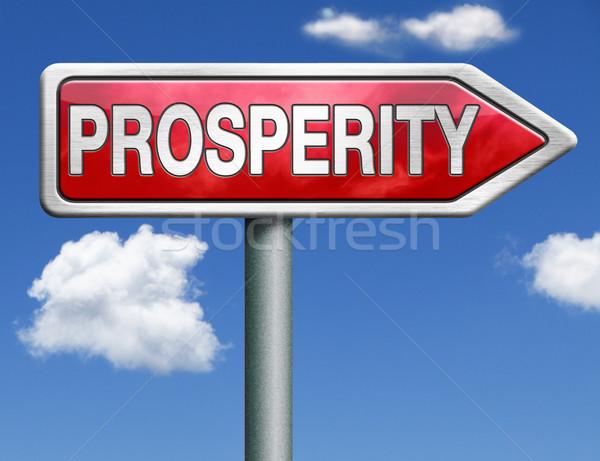prosperity road sign arrow Stock photo © kikkerdirk