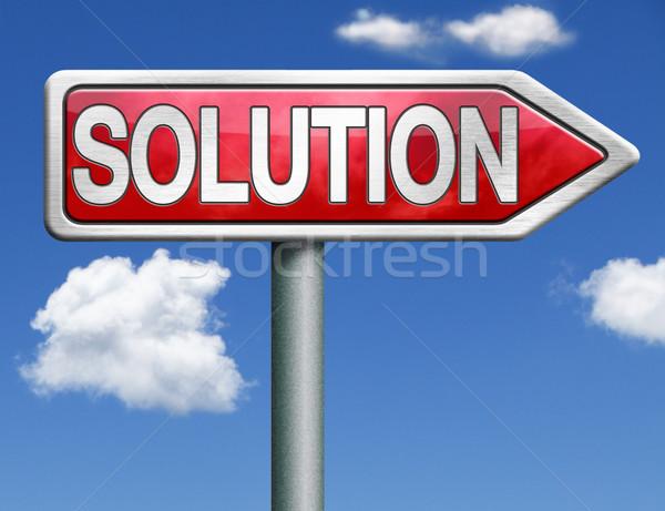 solution road sign arrow Stock photo © kikkerdirk