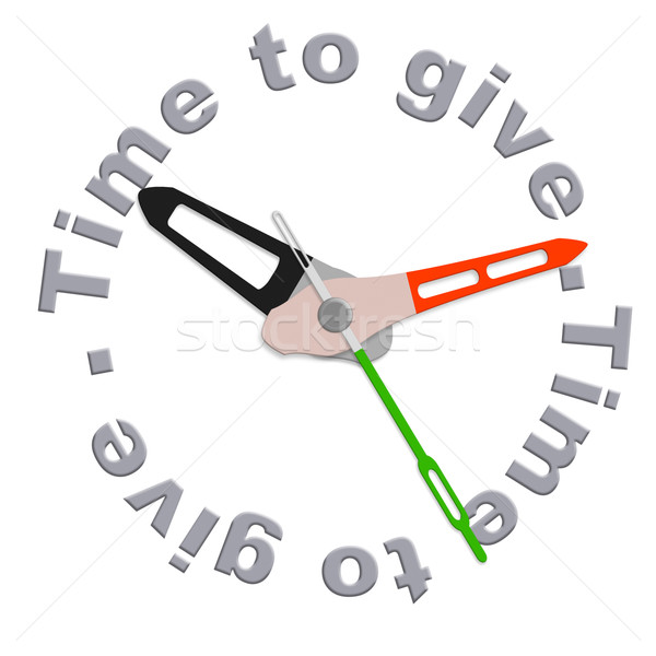 Stock photo: Time to give