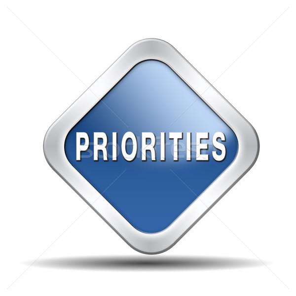 priorities button Stock photo © kikkerdirk