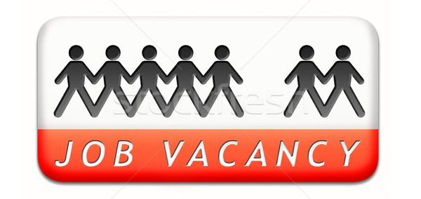 Job helfen gesucht Suche Mitarbeiter Arbeitsplätze Stock foto © kikkerdirk