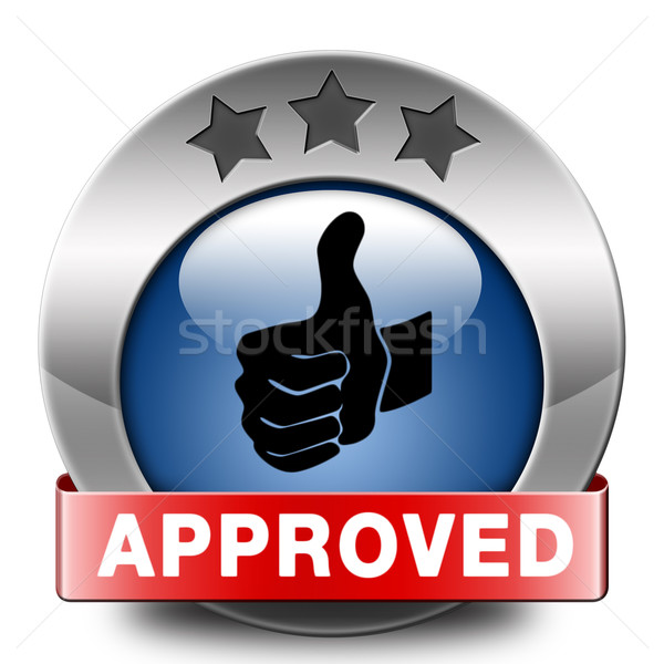 approved icon Stock photo © kikkerdirk