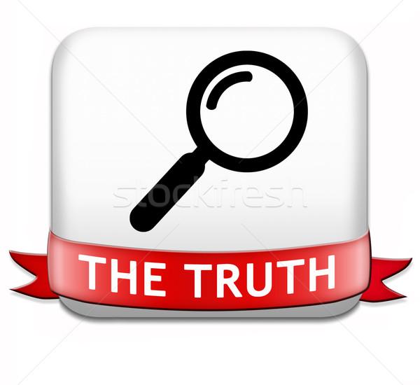 Trovare verità onesto lungo modo Foto d'archivio © kikkerdirk