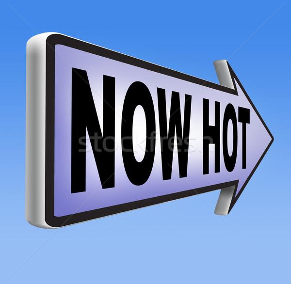 Foto stock: Agora · quente · novo · tendências · notícia