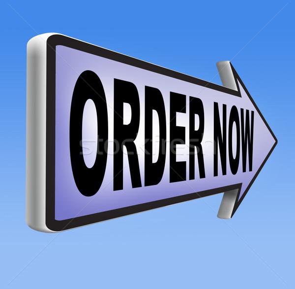 Rendelés most online internet háló bolt Stock fotó © kikkerdirk