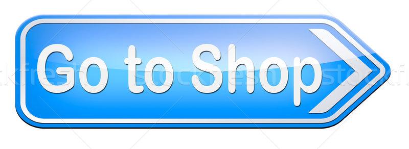 Bolt most felirat online webshop internet Stock fotó © kikkerdirk