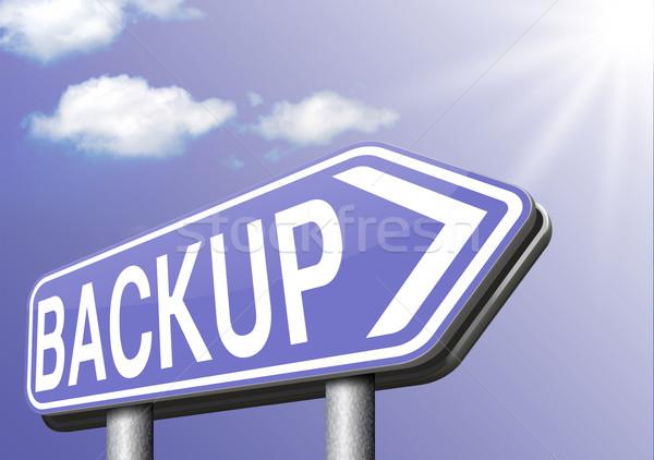 Hát felfelé biztonsági mentés adat szoftver másolat Stock fotó © kikkerdirk