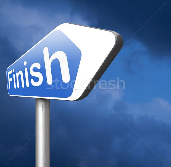 finish line Stock photo © kikkerdirk