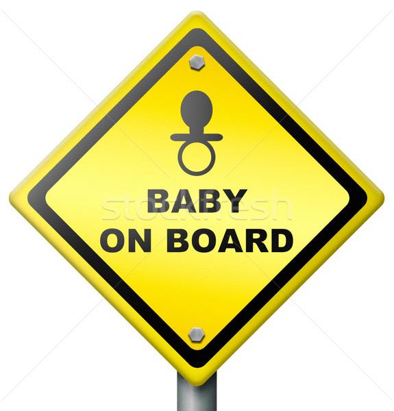 baby on board Stock photo © kikkerdirk