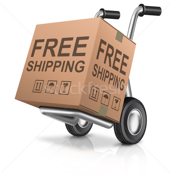 free shipping carboard box Stock photo © kikkerdirk