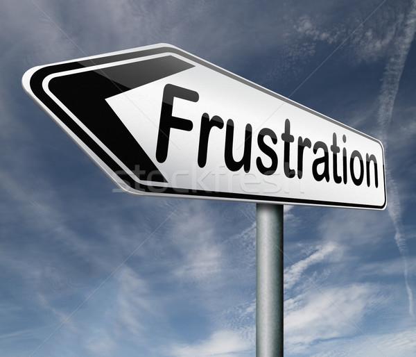 Frustrazione frustrato arrabbiato questione rabbia tristezza Foto d'archivio © kikkerdirk
