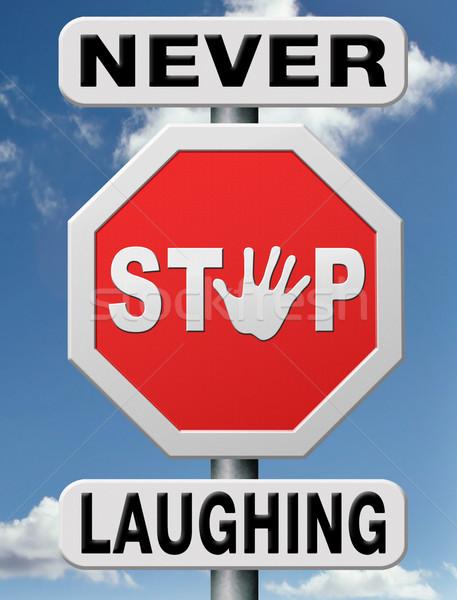 Nooit stoppen lachend leven leuk grappen Stockfoto © kikkerdirk
