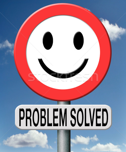problem solved Stock photo © kikkerdirk