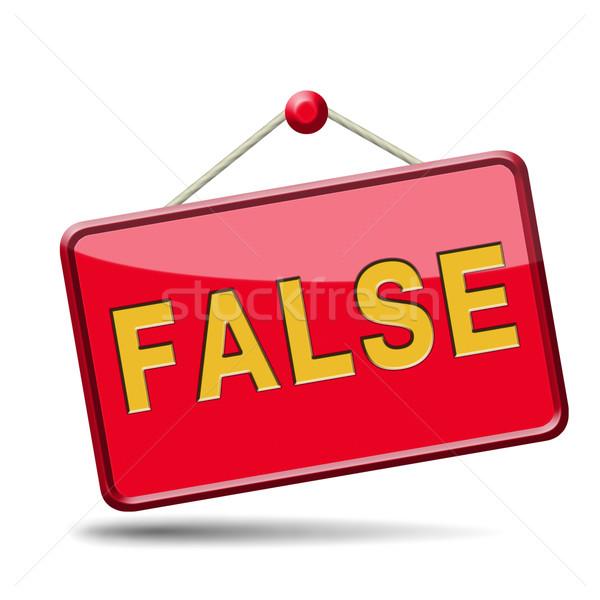 false answer Stock photo © kikkerdirk