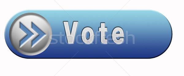 Vote icône élections libre élection nouvelle Photo stock © kikkerdirk