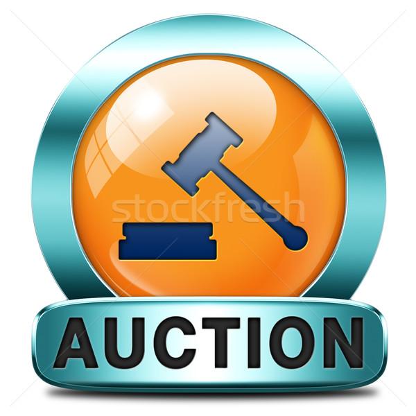 Açık artırma imzalamak çevrimiçi satış satın alma gayrimenkul Stok fotoğraf © kikkerdirk