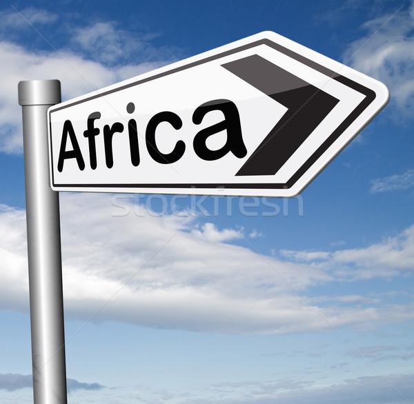 africa sign Stock photo © kikkerdirk