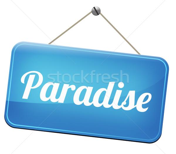 Paraíso carretera manera cielo fantástico playa Foto stock © kikkerdirk