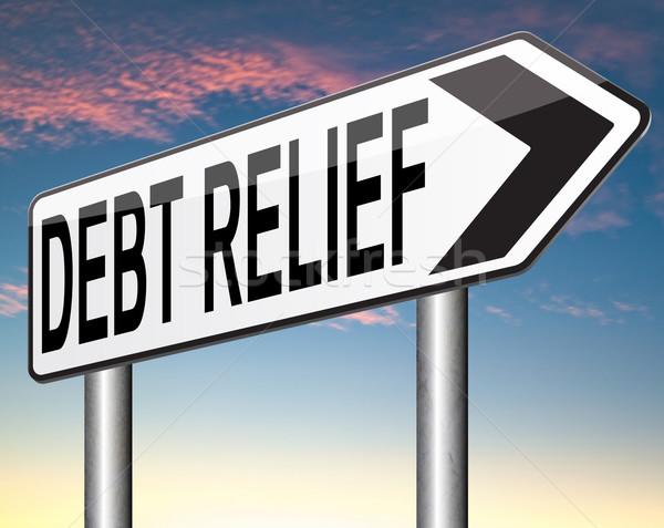 Debito sollievo fallimento credito alloggiamento bolle Foto d'archivio © kikkerdirk