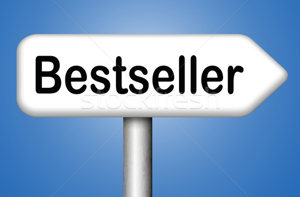 Bestseller legjobb eladó felső termék könyv Stock fotó © kikkerdirk