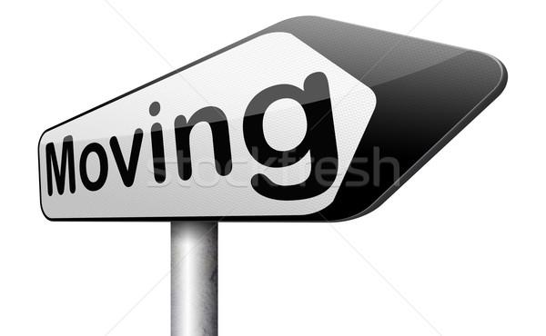 Felirat mozog egyéb ház helyszín Stock fotó © kikkerdirk