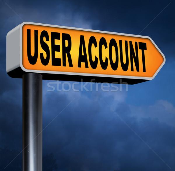 Użytkownik konto członek rejestracja nawigacja otwarte Zdjęcia stock © kikkerdirk