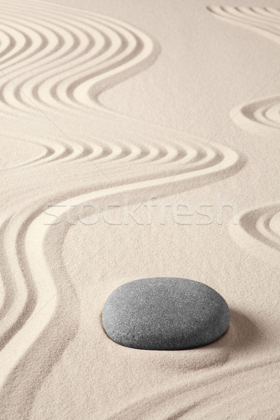 平衡 和諧 禪 冥想 日本 花園 商業照片 © kikkerdirk