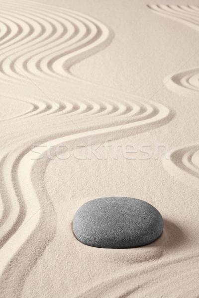 Saldo harmonia zen meditação japonês jardim Foto stock © kikkerdirk